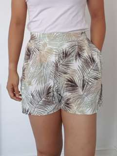 H&M Tropical Palm Leaves shorts - Size S