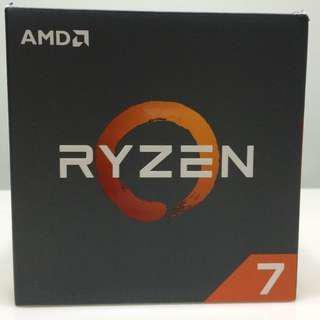 AMD Ryzen 7 1700 Processor with stock AMD Wraith Spire LED Cooler