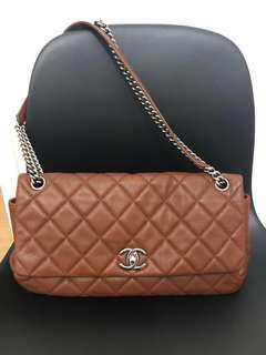 CHANEL Prune Caviar Flap