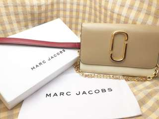 Marc Jacobs Snapshot Chain Crossbody Bag(Slate)