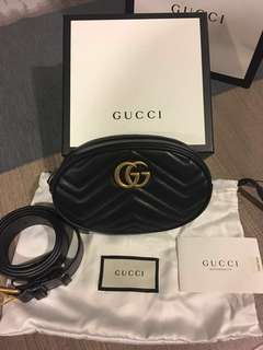 Gucci GG Quilted-Leather Waist Pouch