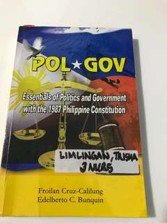 PolGov: Essentials of Politics and Government with the 1987 Philippine Constitution