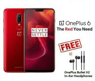 OnePlus 6 Amber RED (8GB+128GB ROM) Original International Global ROM