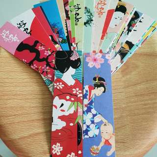 🚚 🔥30 DESIGNS🔥JAPANESE BOOKMARKS