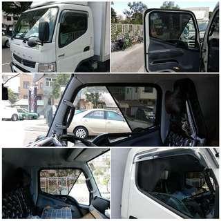 三菱 Fuso貨車 濾光網慮光網窗網太陽擋遮光網窗紗直銷價