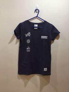navy co. 深藍色口袋tshirt pocket tee