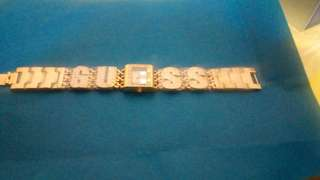 authentic guess watch gold