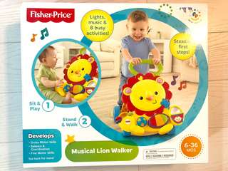 BNIB Fisher Price Musical Lion Walker