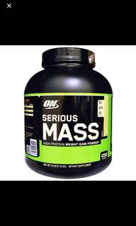 Optimum ON Serious Mass, Vanilla or Chocolate , 6 lb (2.72 kg) Free Delivery! Free Shaker!