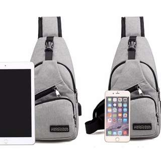 Chest Bag Sling Bag Good Canvas Quality come with extention cable for your usb