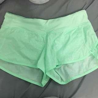 Lululemon speed up shorts size 6
