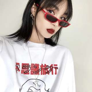 【黑店】歐美時尚 百搭多色塑膠框墨鏡 個性潮流帥氣個性方框墨鏡 方框太陽眼鏡 拍照必備造型眼鏡