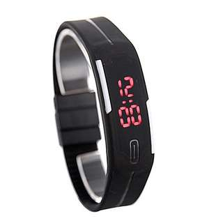LED rubber band Wrist Watch for men and women