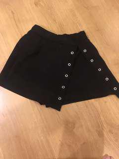 Black Lace Up Skort