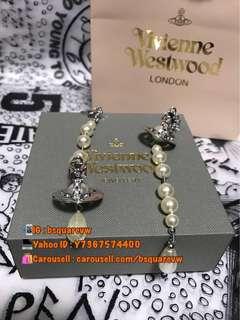 (現貨) 購自英國 2018春夏 Vivienne Westwood BROKEN PEARL 珍珠長耳環 (保証正貨及全新)銀併白色珍珠