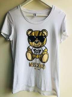 🚚 moschino 墨鏡大熊短T