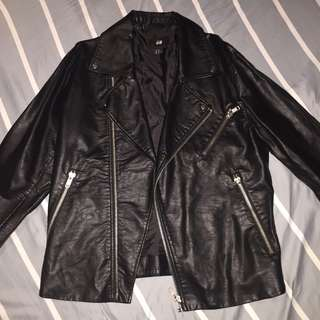 H&M Black Leather Biker Jacket