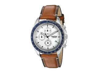 BRAND NEW FOSSIL Men's Sport 54 Leather Watch, 43mm