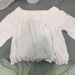 Talula White off shoulder shirt size S