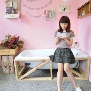 🚚 不規則格子學生短裙✔️