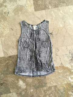 H&M Sleeveless snakeskin print top