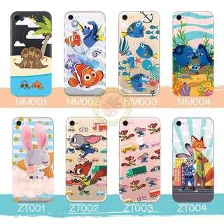 訂製多種型號 phone case 透明手機套電話套 nemo dory zootopia