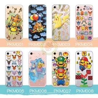 訂製多種型號 phone case 透明手機套電話套 pikachu Pokemon 比卡超 伊貝