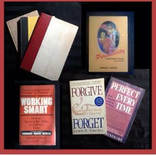 BOOK SELECTION: SELF-HELP - Double Your Energy & Live Without Fatigue * Forgive & Forget * Getting Organized * Healing Life's Sore Spots * Perfect Every Time: When Doing It All Leaves You With Nothing * Personality for Today's Youth * Working Smart