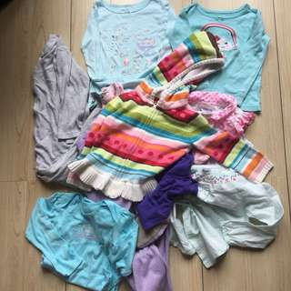 REPRICED 2T GIRL'S CLOTHES TAKE ALL 10 PCS PLUS FREEBIES