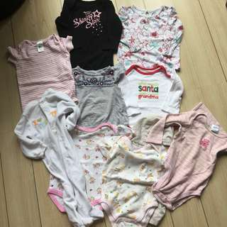REPRICED 10 PCS PLUS FREEBIES BABY GIRL CLOTHES 6M- 12M