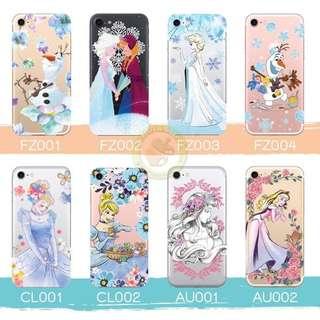 訂製多種型號 phone case 透明手機套 電話套 frozen Olaf Cinderella