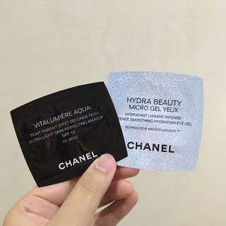 Chanel Hydrating Eye Gel and Skin Perfecting Makeup (Trial Size)