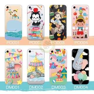 訂製多種型號 phone case 透明手機套電話套 dumbo 小飛象 Pinocchio 木偶