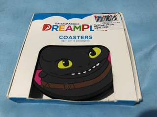 4pcs Coasters - Toothless