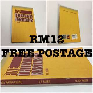 Novel Lejen Press FIVE THIEVING BASTARDS A.B. Hashim