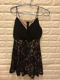 🚚 正韓黑色蕾絲性感洋裝