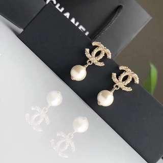 Chanel earrings香奈兒經典珍珠款純銀防敏感耳環
