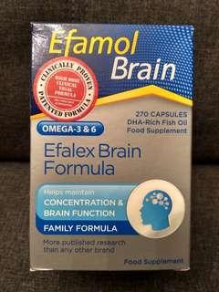 Food Supplement : Efamol Brain Omega-3 & 6 Efalex Brain Formula - 270 Capsules