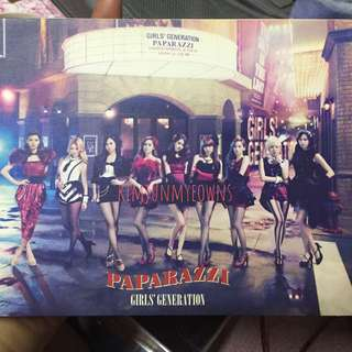 Girls' Generation SNSD Paparazzi Japanese Album with DVD