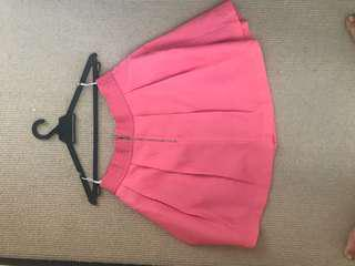 BYSI skater skirt coral #70fashion
