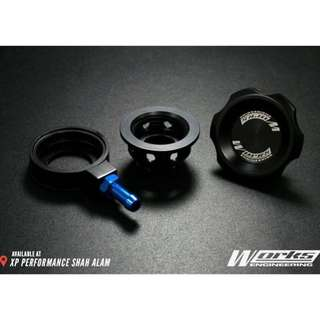 Engine Oil Cap WORKS ENGINEERING For Mazda Ford Black