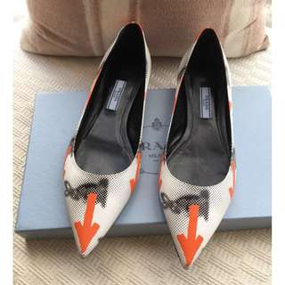 Prada   leather flats shoes ballerina   @SIZE 37