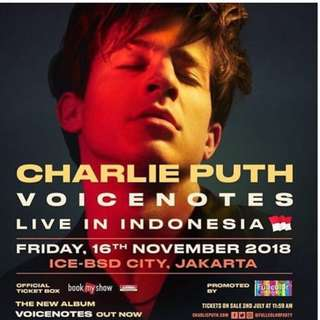 Charlie Puth Golden Priority Tickets