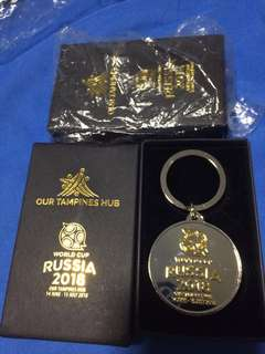🚚 Brand new in box Russia 2018 World Cup our Tampines hub keychain