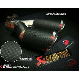 "Akrapovic Exhaust Tip 3"" dual outlet pure carbon fibre"