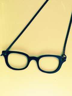 REDUCED: Black Glasses Necklace