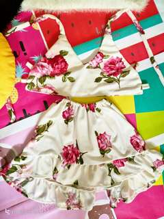 Terno floral dress(4-8 yrs.old)