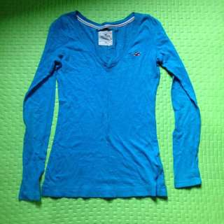 Hollister blue long sleeves