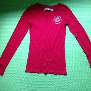 Hollister red long sleeves