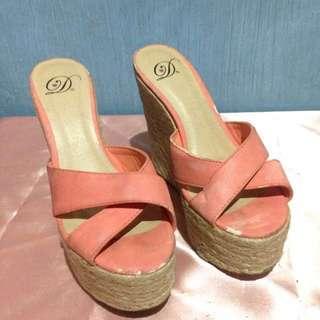 D. Wedge shoes orange